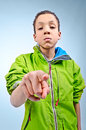 Bully big bullying kid looking for trouble Stock Photos
