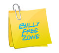 Bully free zone post illustration design over a white background Royalty Free Stock Photos