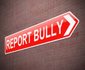 Bullying sign illustration depicting a with a concept Stock Images