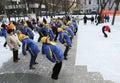 Bulwaru sprawności fizycznej zima Obraz Royalty Free