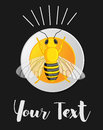 Bumble-Bee Vector Template Royalty Free Stock Photo