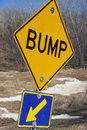Bump Sign Royalty Free Stock Photo