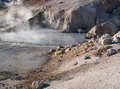 Bumpass hell in lassen volcanic national pass a geothermal feature park Royalty Free Stock Photography