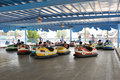 Bumper car game Royalty Free Stock Image