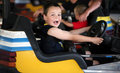 Bumper car kid Stock Photography