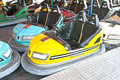 Bumper cars in amusement park Royalty Free Stock Image