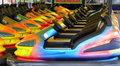 Bumper cars detail of waiting for the day to start Royalty Free Stock Photography