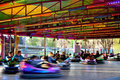 Bumper cars in a fairground Stock Photos