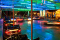 Bumper Cars at Night Royalty Free Stock Photography