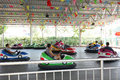 bumper cars in park Royalty Free Stock Photo