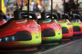 Bumper cars in a row Stock Photos