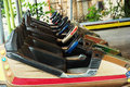 Bumper cars in a row Royalty Free Stock Photo