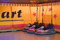 Bumper cars row of for an amusement park ride Royalty Free Stock Photo