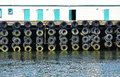 Bumpers made of old tires Royalty Free Stock Photo