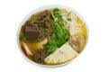 Bun bo hue beef and pork rice vermicelli with vegetable Stock Photos