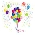 Bunch of balloons colorful festive Stock Photography