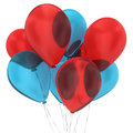 Bunch of balloons d illustration on white background Royalty Free Stock Image
