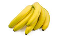 Bunch bananas isolated white background Royalty Free Stock Photo