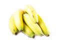Bunch of bananas isolated on white background Stock Photos