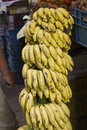 Bunch of bananas in traditional market Royalty Free Stock Photography