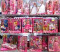 Bunch of Barbie dolls Royalty Free Stock Photo