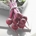 Bunch of beets with black and white background Stock Images
