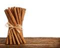 Bunch of Ceylon cinnamon Royalty Free Stock Photo