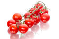 Bunch of cherry tomatoes on white background Royalty Free Stock Photos