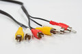 Bunch of chinch cables Royalty Free Stock Photography