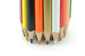Bunch of colored pencils Royalty Free Stock Image