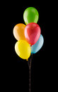 Bunch of colorful balloons Royalty Free Stock Photo