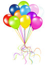 Bunch Of Colorful Balloons. Vector Stock Images