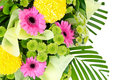 Bunch of colorful flowers decoration on white with working path Royalty Free Stock Image