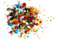 Bunch of colorful glass beads Royalty Free Stock Image
