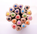 Bunch of colour pencil 02 Royalty Free Stock Photo