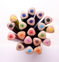 Bunch of colour pencil 03 Royalty Free Stock Photo