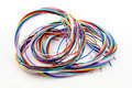 A bunch of colourful cables Stock Image