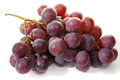 Bunch of eating black grapes on a white background Stock Photo