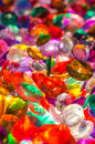 A bunch of gem stones large mix colored backlit to show their color and beauty Royalty Free Stock Images