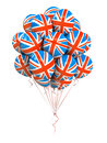 Bunch of Great Britan flag balloons Royalty Free Stock Photo