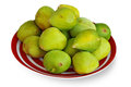 Bunch of green figs on a plate Stock Images