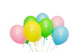 Bunch of inflated helium balloons holidays birthday party and decoration concept colorful Stock Images