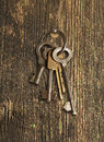 Bunch of keys hanging on the wall Royalty Free Stock Photo