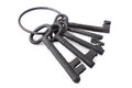 Bunch of old iron keys Royalty Free Stock Photography