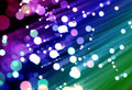 Bunch of optical fibres Stock Photo