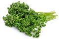 Bunch of parsley isolated on white Stock Photography
