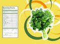 Bunch of parsley nutrition facts creative design for with label Royalty Free Stock Photo