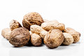 Bunch of peanuts on white background Stock Photography