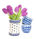 A bunch of purple tulips Royalty Free Stock Photography