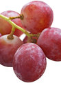 Bunch of red grapes on white background Stock Photo